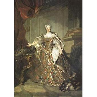 Marie Leczinska Queen of France, wife of Louis XV, Louis Tocque, 40x60cm with tray