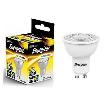 Energizer GU10 LED Bulb 345lm Spot 5.7W=50W Warm White 36° Dimmable Various Quantities