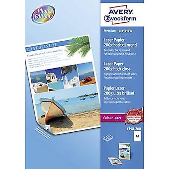 Impresora laser papel Avery Zweckform Premium láser papel 200g alto brillo 1398-2