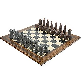 The Berkeley Chess Scottish Metal and Palisander Chess Set