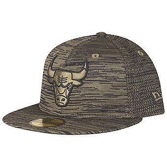 New era 59Fifty Engineered Cap - NBA Chicago Bulls-olive
