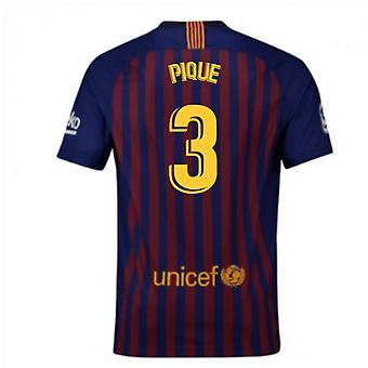 2018-2019 Barcelona Home Nike Football Shirt (Pique 3) - Kids