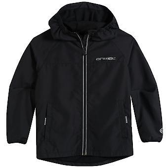 Animal Boys Kids Sheet Long Sleeve Lightweight Hooded Jacket Coat - Black