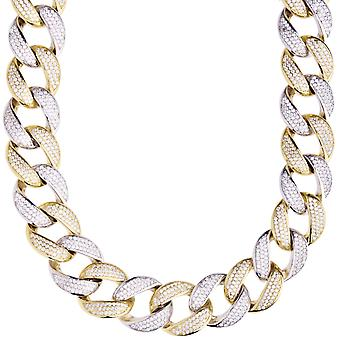 Premium bling Sterling 925 Silver Miami Cuban chain - 16mm