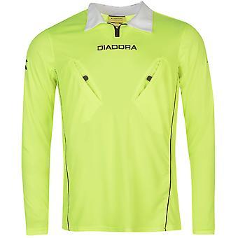 Diadora Mens Montreal Long Sleeve Referee Shirt Baselayer Top Compression Armor