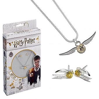 Harry Potter Silver Plated Necklace & Earring Set