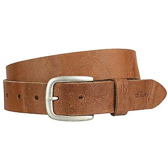 s.Oliver mens leather buckle belt leather belt 98.899.95.3801-8761