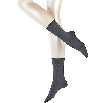 Esprit Basic Pure 2 Pack Socks - Anthracite Melange