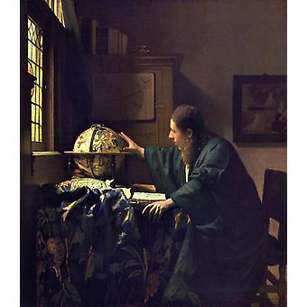 Los astrónomos et, Johannes Vermeer, 50x45cm
