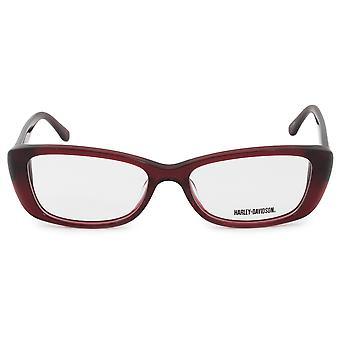 Harley Davidson Cat Eye Eyeglasses Frames HD0521 RD 53