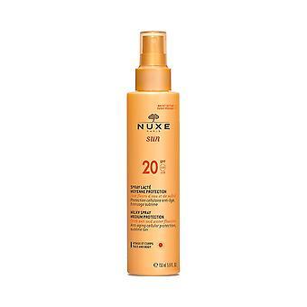 NUXE solen mælkeagtig Spray Medium beskyttelse til ansigt og krop SPF20 150ml