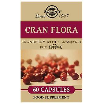 Solgar Cran Flora with Probiotics Plus Ester-C 60 Vegetable Capsules