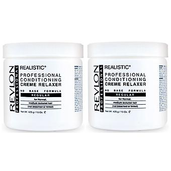 Revlon Realistic Conditioning Creme Relaxer - Regular 425g (2-Pack)