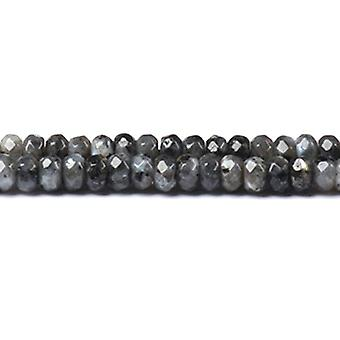 Strand 70+ Grey Larvikite 5 x 8mm Faceted Rondelle Beads CB48957-3