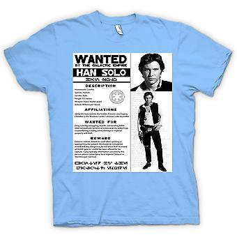 Womens T-shirt - Star Wars Han Solo Wanted - Poster
