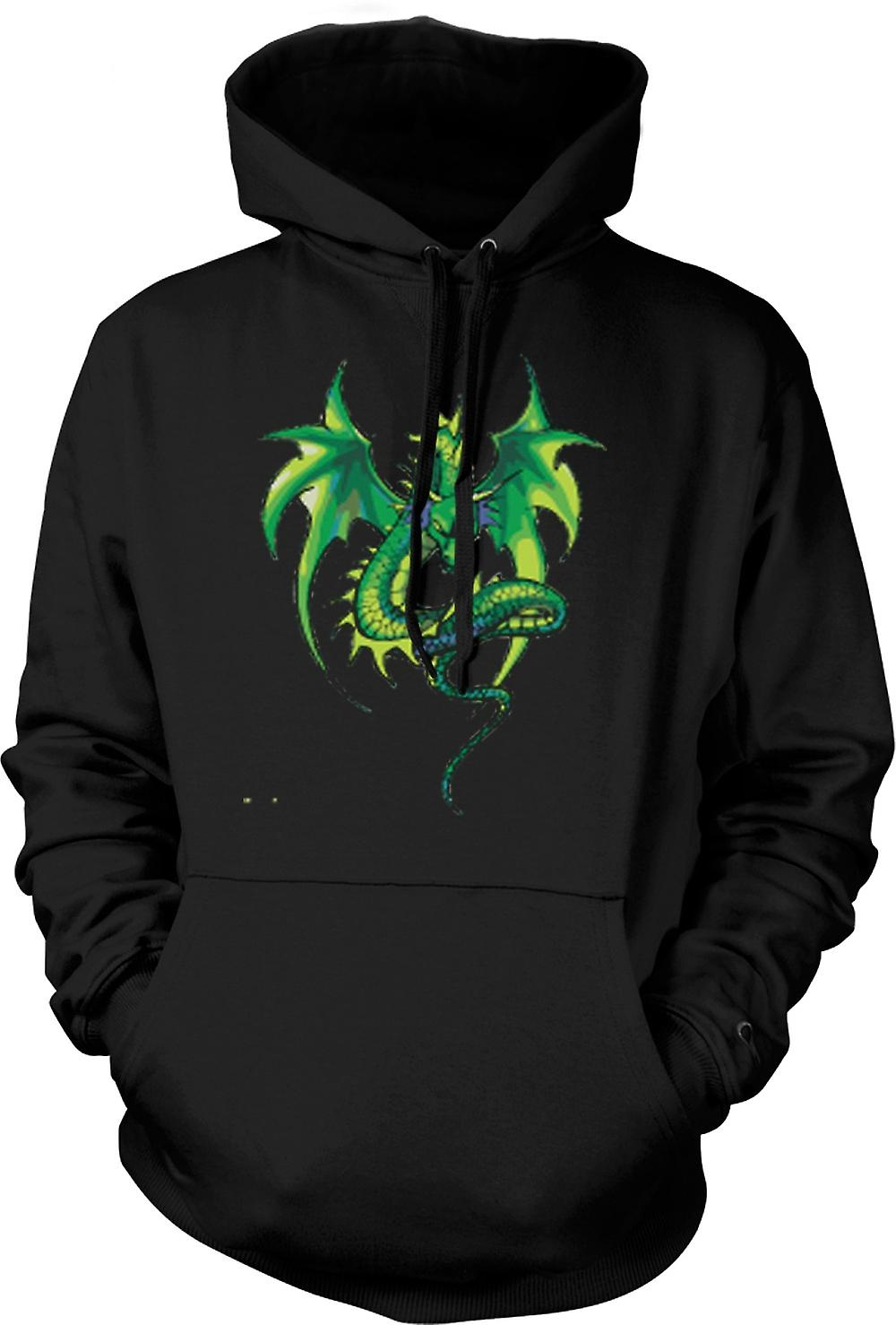 Kinder-Hoodie - Green Dragon Comic-Design