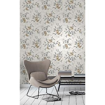 Elegant Sparkle Blossom Natural Stone Wallpaper Wall Decoration 0.52m x 10.05m