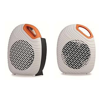 2Kw Orange Two Tone Fan Heater Compact Stylish