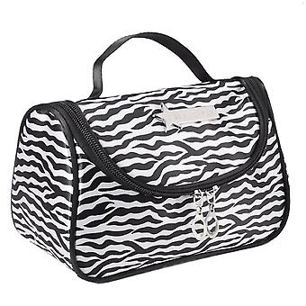 Leopard White Pattern Cosmetic Make Up Travel Package Case Pouch  - Model 283