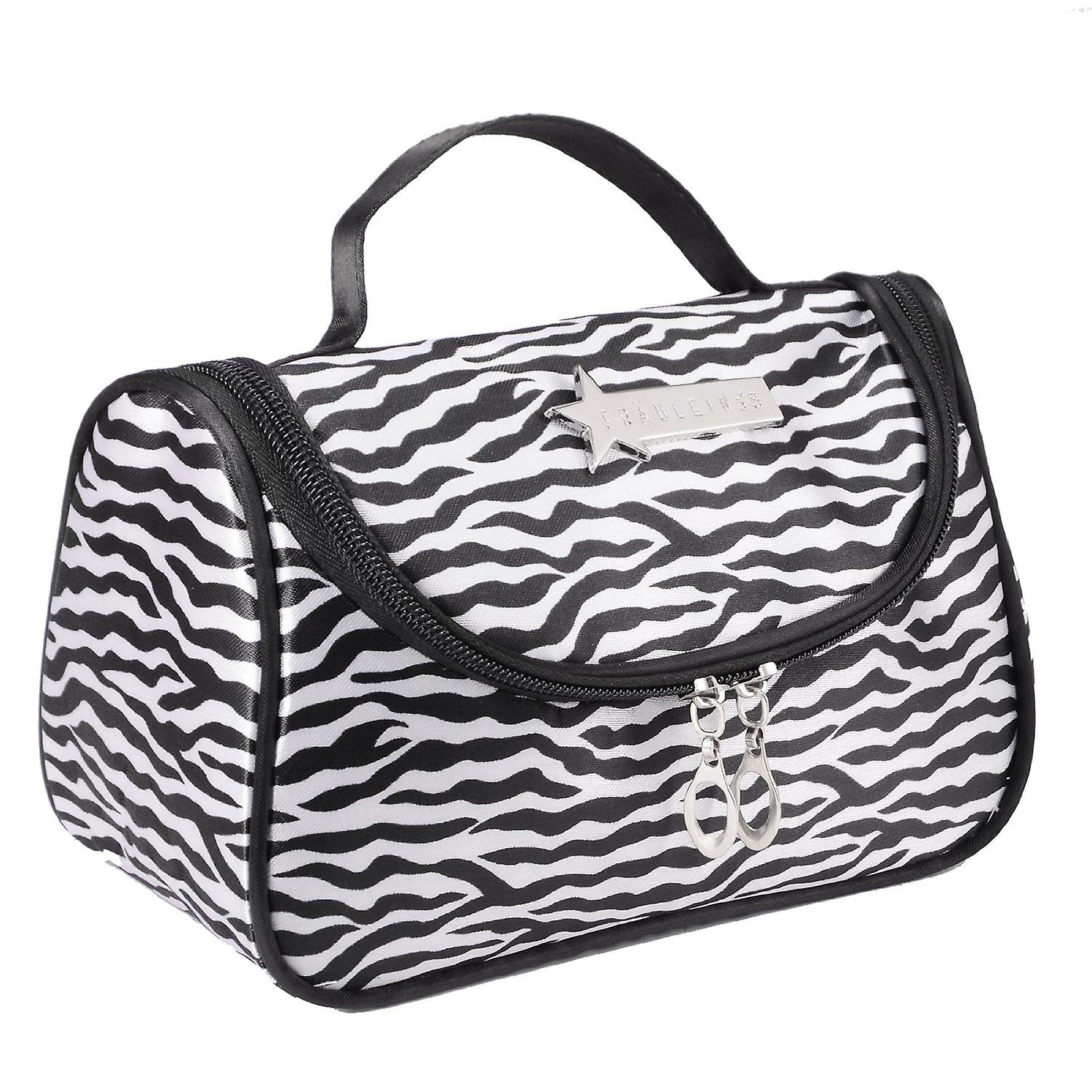 Leopard Vit Mönster Cosmetic Make Up Travel Package Case Pouch - Modell 283