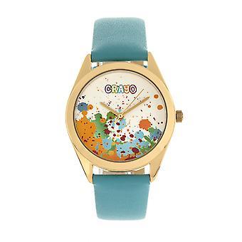 Crayo Graffiti Unisex Watch - Gold/Powder Blue