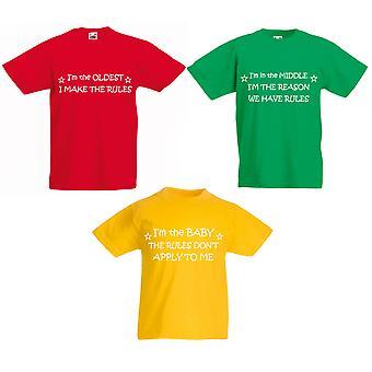 Conjunto de camiseta de reglas a los niños