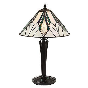 Lámpara de mesa de estilo Tiffany pequeño Astoria - interiores 70365 1900