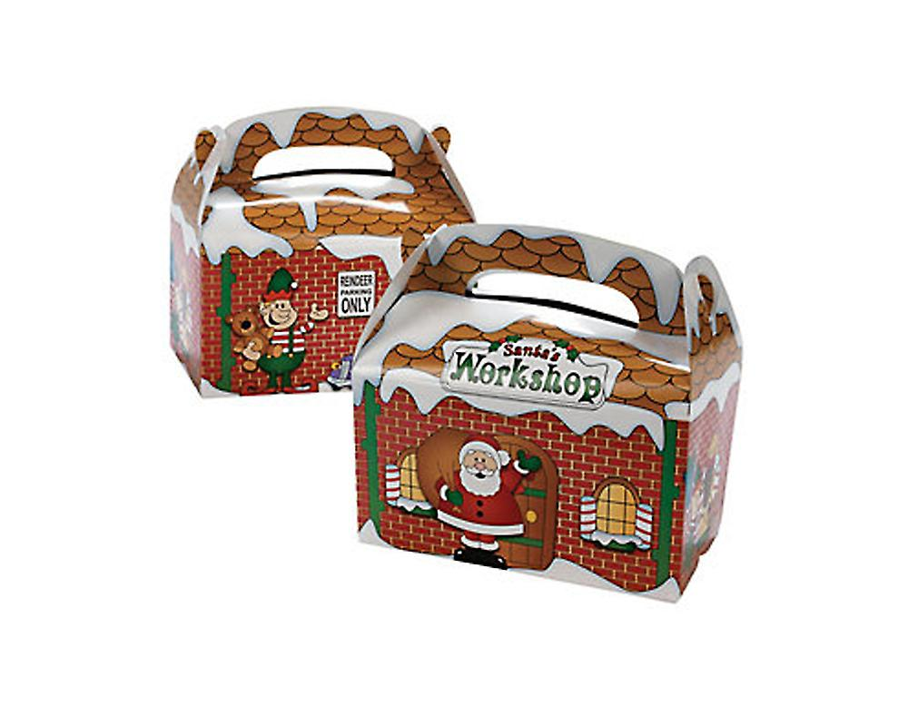 12 Santas Workshop Christmas Treat or Party Food Lunch Boxes