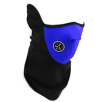TRIXES Blue Neoprene & Fleece Half Face & Neck Warmer for Ski Snowboard Airsoft etc