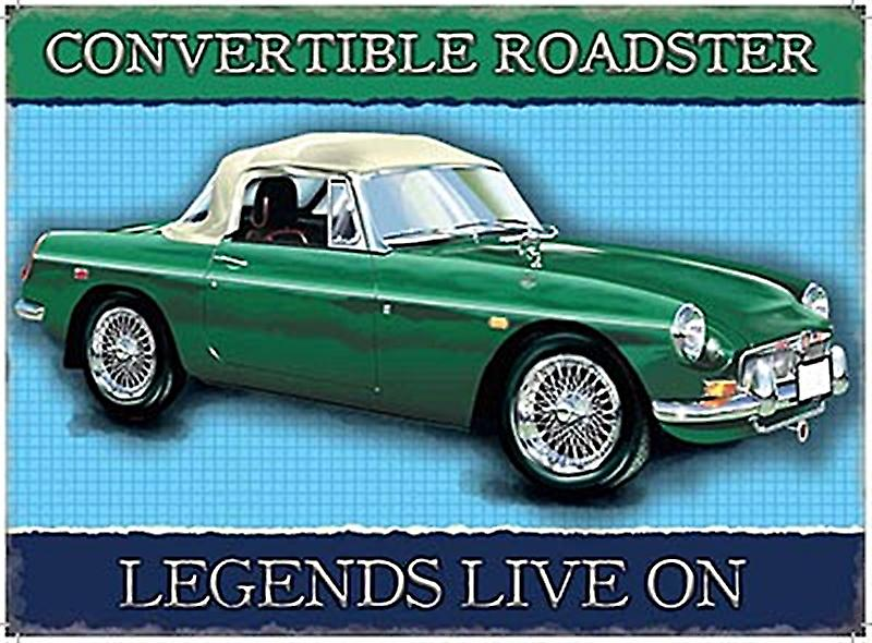 MGB Convertible Roadster small metal sign   (og 2015)