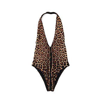 Saint Laurent Leopard Nylon One-piece Suit