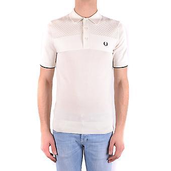 Fred Perry White Cotton Polo Shirt