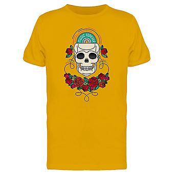 Music Forever, Floral Skull Tee Men's -Image by Shutterstock