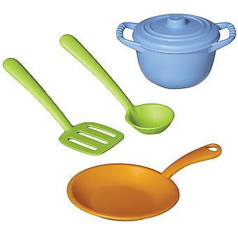 Green Toys Eco Friendly BPA Free Pretend Play Chef Set 100% Recycled Toy