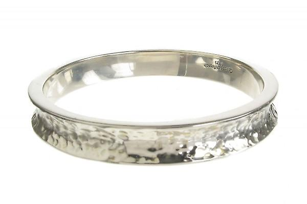 Cavendish Franse zilver geslagen slanke Wheel Rim Bangle