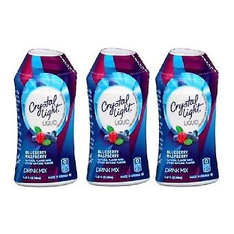 Crystal Light Blueberry Raspberry Liquid Drink Mix 3 Bottle Pack