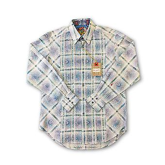 Robert Graham 'ea Port' hirt in blue/white abtract check