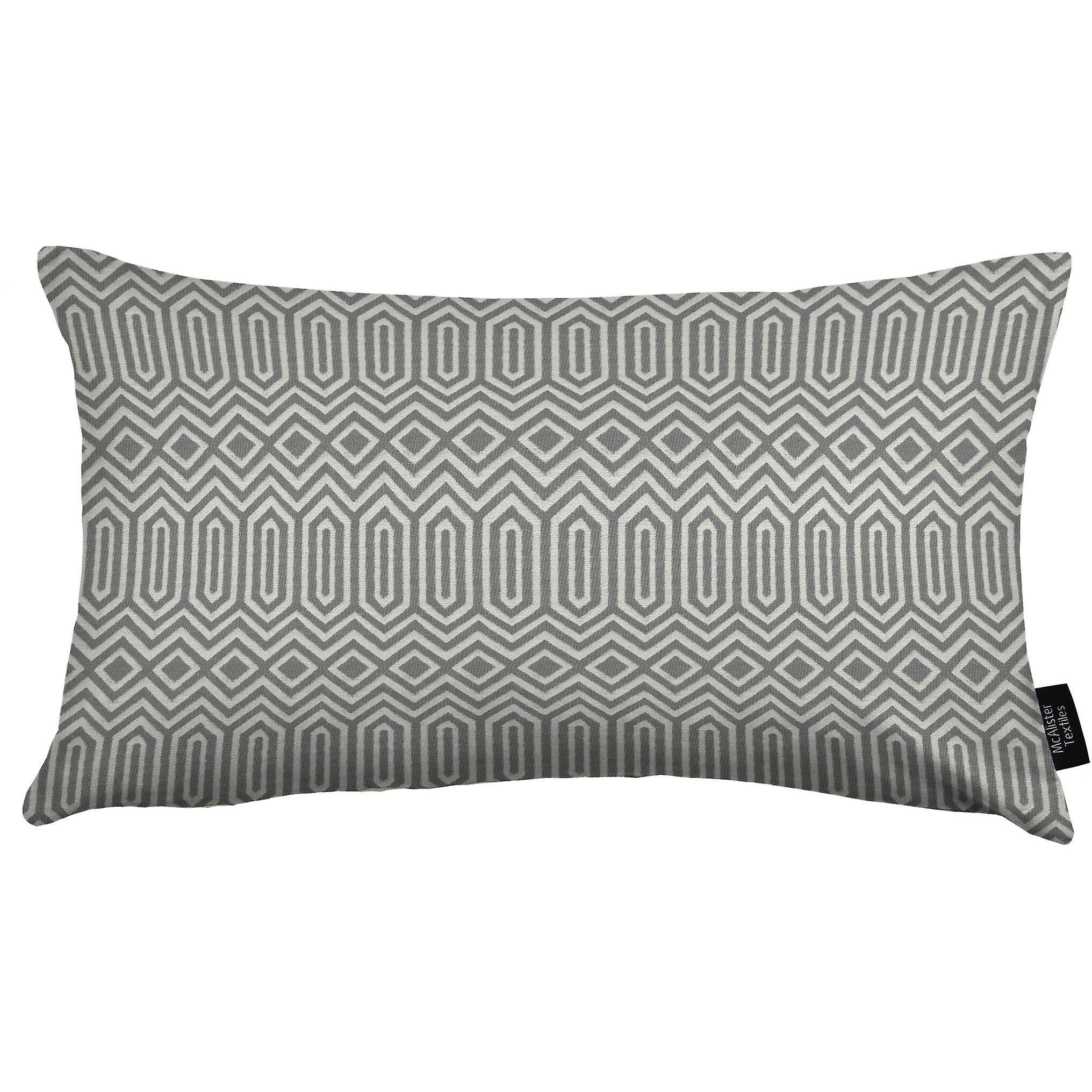 Mcalister textiles colorado geometric charcoal grey pillow
