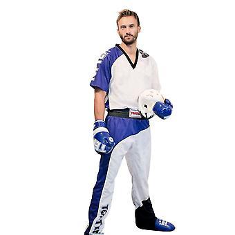 Top Ten Bow Kickboxing Uniform Weiß/Blau/Schwarz
