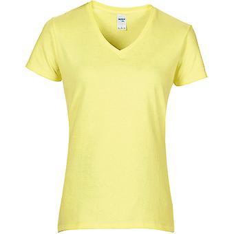 Gildan - Damen Damen Premium Baumwolle V-Ausschnitt T-Shirt