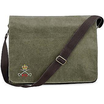 Exército real corpo de treinamento físico PTI-licenciado exército britânico bordado vintage Canvas saco mensageiro Despatch