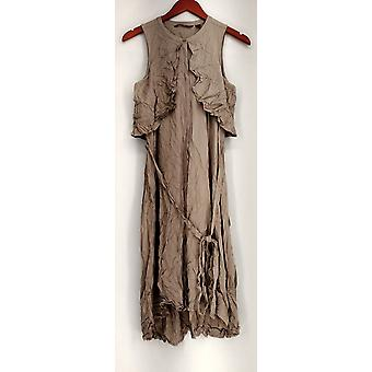 H by Halston Dress Fly Away Midi Shirt Dress Gray A276415