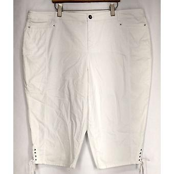 Style & Co. Plus Jeans Tummy Control Capri Jeans White Womens
