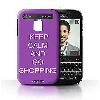 STUFF4 Case/Cover for Blackberry Classic/Q20/Go Shopping/Purple/Keep Calm