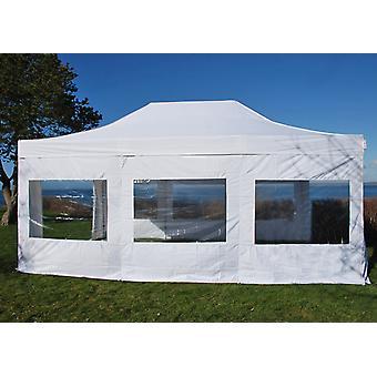Faltzelt FleXtents Easy up pavillon Xtreme 4x6m Weiß, Flammenhemmend, mit 4 Seitenwänden