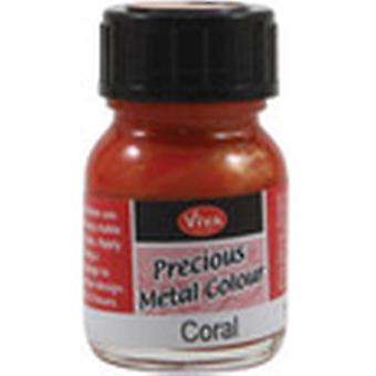 Viva Decor Precious Metal Color 25Ml Pkg Coral Vvpmc 3404