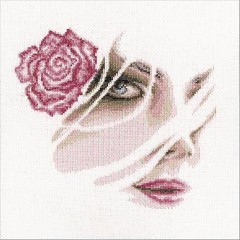 Coral Rose gezählt Cross Stitch Kit-8,75
