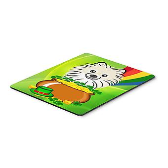 Pomeranian St. Patrick's Day Mouse Pad, Hot Pad or Trivet BB1951MP