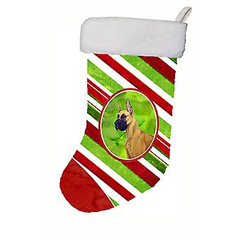 Great Dane Candy Cane Holiday Christmas Christmas Stocking LH9220