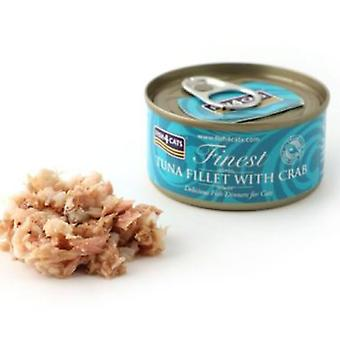 Fish4Cat Canned tuna steak with crab 70 Gr (Cats , Cat Food , Wet Food)
